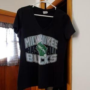 Milwaukee Bucks V neck shirt